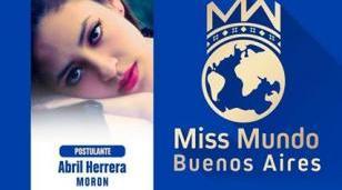 Abril, la estudiante de Morón que aspira a Miss Mundo