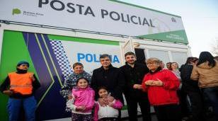 Zabaleta inauguró la quinta posta policial de Hurlingham