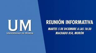Reunión informativa en la Universidad de Morón
