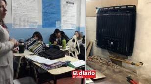 Finalmente llevaron calefacción a la escuela 9 de Castelar