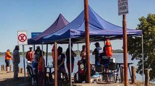 Operativos de concientización y cuidado en el dique Roggero