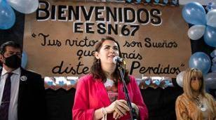 Fernández inauguró la sede definitiva de la Secundaria 67