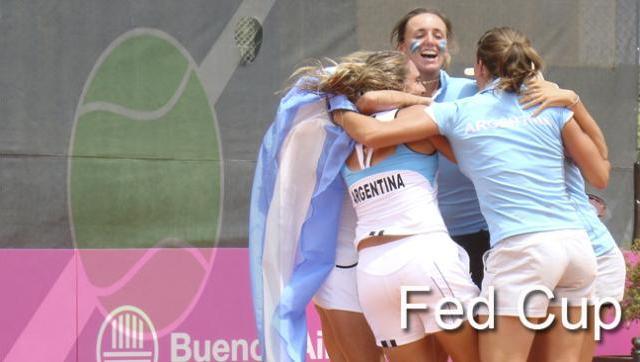 Argentina enfrentará a EE UU por la Copa Fed