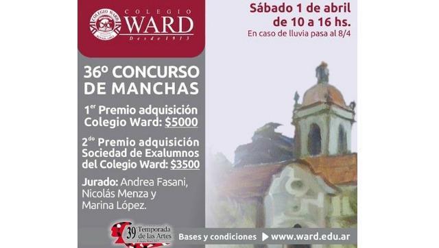 El 1º de abril, 36º Concurso de Manchas en el Colegio Ward
