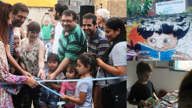 Inauguraron la Biblioteca Popular del Barrio Gardel