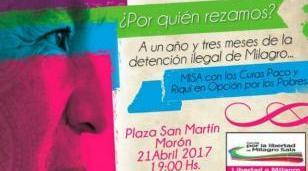 Misa en Morón a 15 meses de la detención ilegal de Milagro Sala