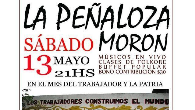 Este sábado, nueva edición de La PeñaLoza en Morón Norte