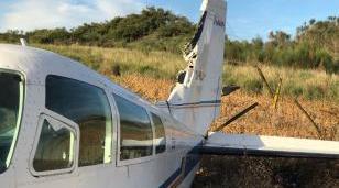Una aeronave que salió de Morón sufrió una falla y cayó al vacío