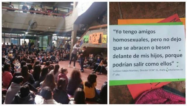 Lección: el estudiantado del Dorrego se plantó frente a un caso de discriminación