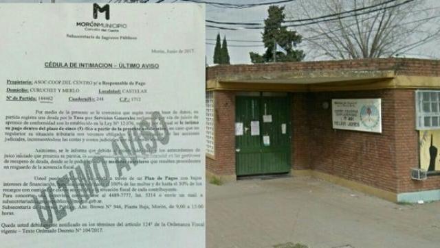 El gobierno de Tagliaferro intimó a la cooperadora de una escuela pública porque debe la tasa municipal