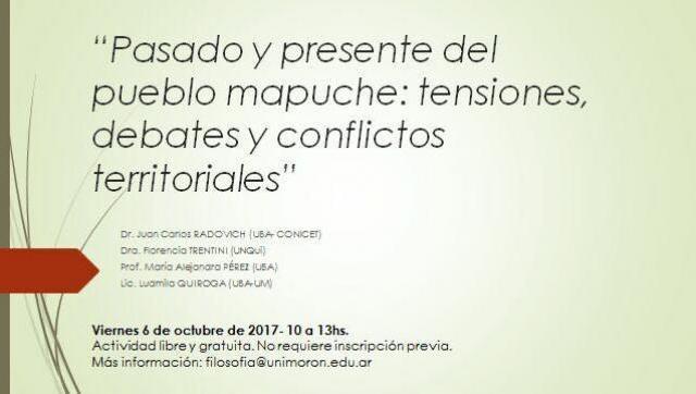 Charla debate sobre el pueblo mapuche en la Universidad de Morón