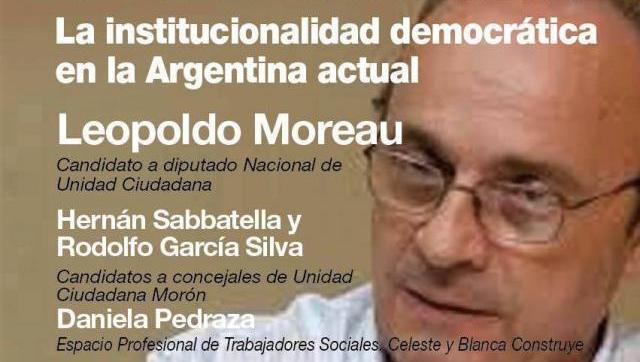 Debatirán en el Colegio de Abogados local sobre la institucionalidad democrática en la Argentina