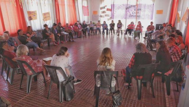 Encuentro de feminismo popular y comunitario en Castelar
