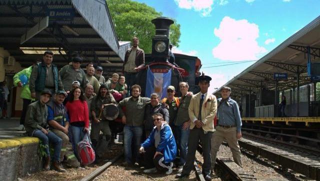 Fiesta en la estación de Haedo con una joya de colección: la locomotora Stephenson