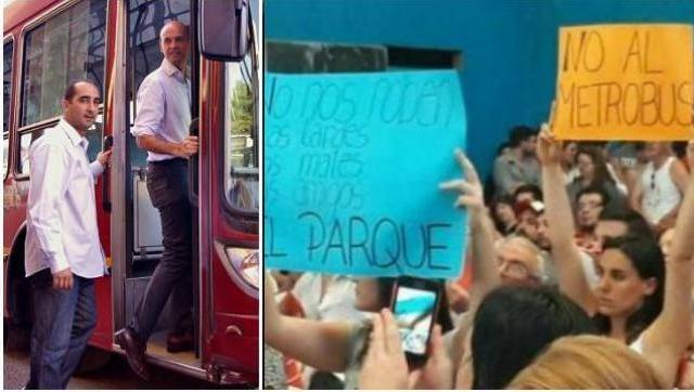 Tagliaferro vuelve a embestir con el Metrobus pese al fuerte rechazo vecinal