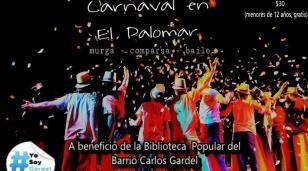 Carnaval a beneficio de la Biblioteca Popular del Barrio Gardel