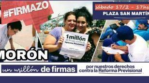 """Se viene en Morón el """"firmazo"""" contra la reforma previsional"""