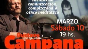 """Gustavo Campana expondrá en Morón sobre """"medios de comunicación, complicidad y cerco mediático"""""""