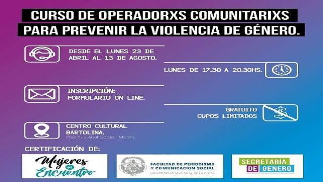 Curso de operadorxs para prevenir la violencia de género en Morón