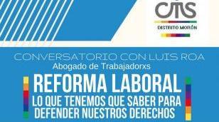 Derechos en riesgo: charla en Castelar sobre la reforma laboral