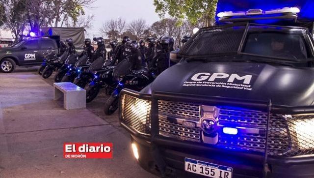 En Morón comenzó a operar el Grupo de Policía Motorizada