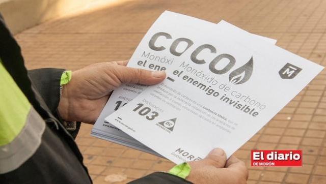 El municipio realiza una campaña para concientizar sobre el monóxido de carbono