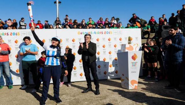 La Antorcha de los Juegos Olímpicos de la Juventud 2018 en Hurlingham
