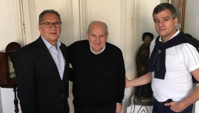 Descalzo y Zabaleta se reunieron con el Obispo de Morón