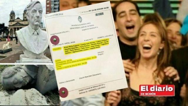 Imputan a Tagliaferro y sus concejales por no restituir el busto de Nestor Kirchner