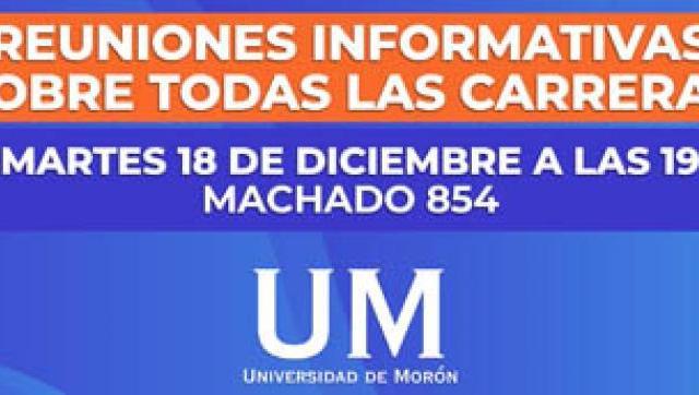 Reuniones informativas en la Universidad de Morón