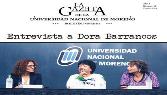 Último número de La Gazeta de la Universidad Nacional de Moreno
