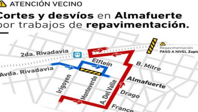 La calle Almafuerte en Castelar permanecerá cerrada por diez días
