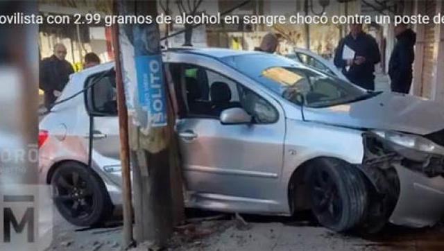 Manejaba alcoholizado y a toda velocidad en Castelar