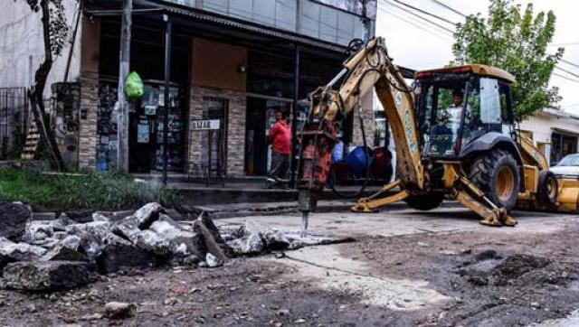 El Plan de repavimentación avanza en Castelar Sur