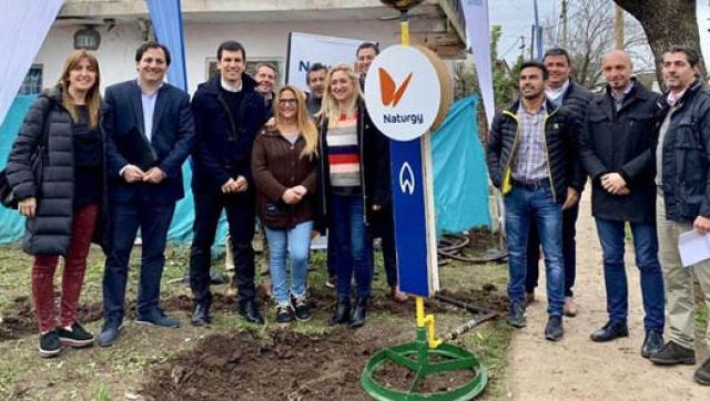 Naturgy inauguró la red de gas del barrio Parque Florido en Escobar
