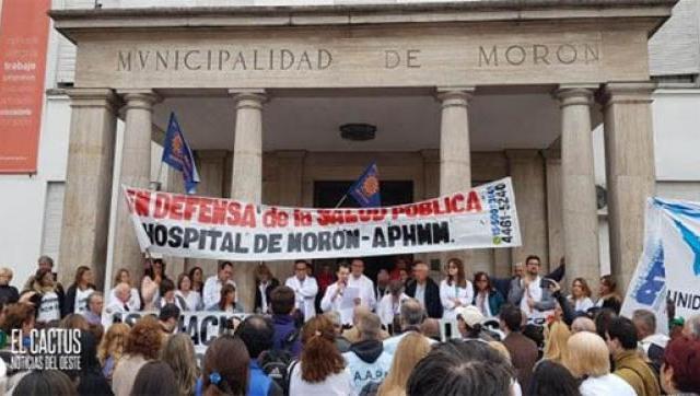 Se realizó una marcha y una asamblea frente a la municipalidad