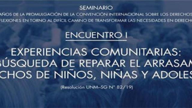 UNM: Seminario sobre el arrasamiento de Derechos de Niños y Adolescentes