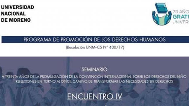 Ecuentro IV en la Universidad Nacional de Moreno (UNM)