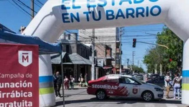 """Un puesto fijo del """"Estado en tu Barrio"""" llegó a Castelar sur"""