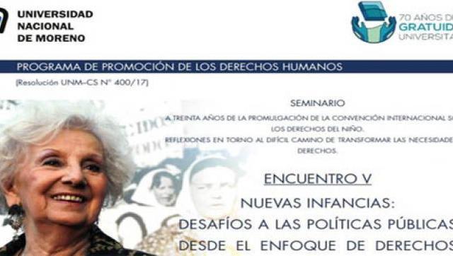 UNM: Encuentro sobre Derechos del Niño con Visita de Estela de Carlotto
