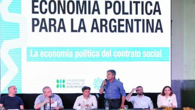 Zabaleta, Kicillof y Perczyk en el IV Congreso de Economía Política que se realiza en la UNAHUR