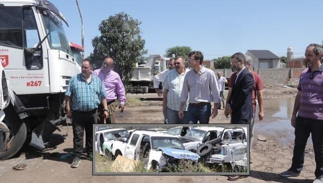 Morón también es tierra arrasada: Lucas Ghi visitó distintas áreas del municipio