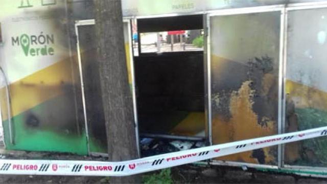 Incendiaron un Eco Punto dentro del Polideportivo municipal Gorki Grana
