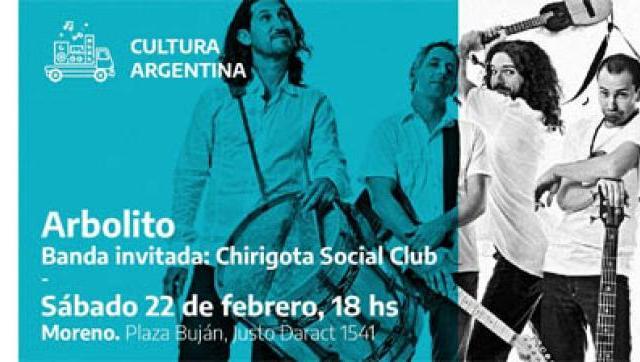 Arbolito se presentará este fin de semana en Moreno