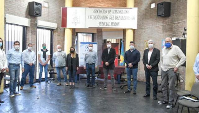 Intendentes se reunieron con la Asociación de Magistrados de Morón por el cuidado y la seguridad en los distritos
