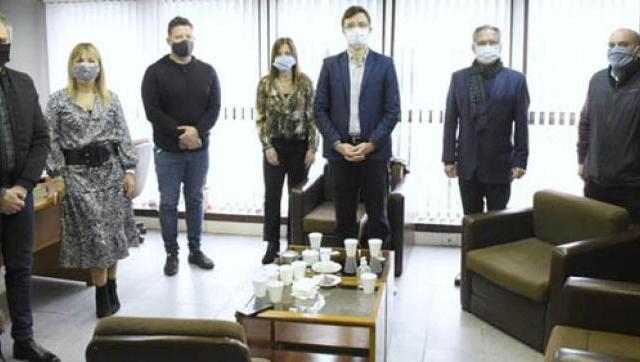 Descalzo, Zabaleta, Ghi y Menéndez se reunieron con funcionarios del Departamento Judicial de Morón