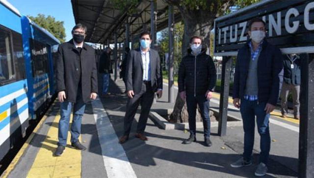 Se retomó la renovación de la estación de Ituzaingo del tren Sarmiento