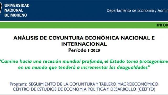 Se encuentra disponible el último Informe de Análisis de la Coyuntura Económica Nacional e Internacional