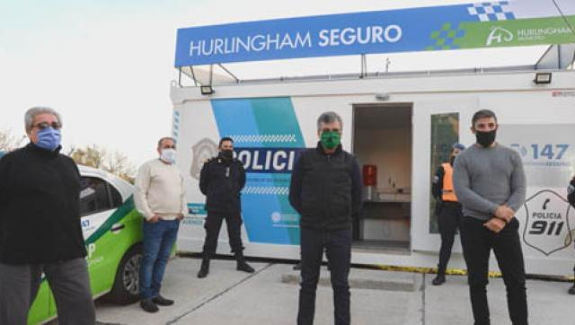 Zabaleta inauguró la novena posta policial del distrito