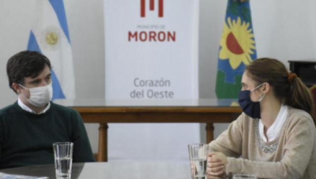 Lucas Ghi recibió en Morón a la ministra de Trabajo bonaerense Mara Malec